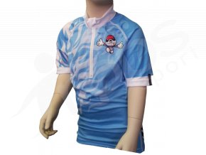 Cyklistický dres PICAROON dětský - modrý