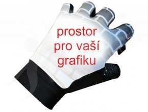 Cyklo rukavice DEXTER krátkoprsté s páskem - subli