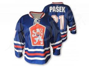 Hokejový RETRO dres ČSSR TOP - modrý
