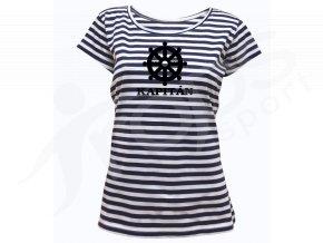 Dámské námořnické tričko Sailor Kormidlo a jméno