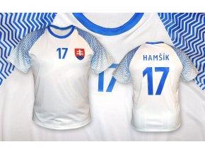 fotbalovy dres slovensko top bily