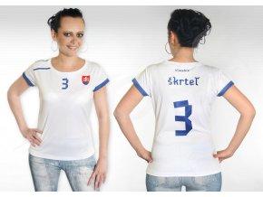 damsky fotbalovy dres slovensko top bily