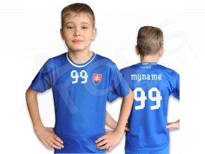 Dětský fotbalový dres SLOVENSKO TOP modrý