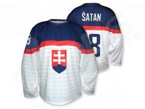 Hokejový dres SLOVENSKO 2014 TOP - bílý