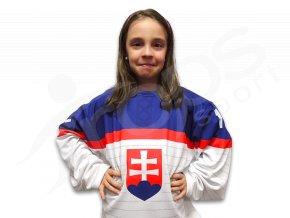 Dětský hokejový dres SLOVENSKO 2014 TOP - bílý