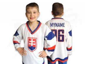 Dětský hokejový dres SLOVENSKO TOP -  bílý