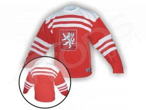 Hokejový dres RETRO ČSR 1947 červeno-bílý