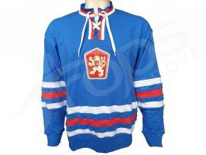hokejovy dres retro cssr 76 pk modry