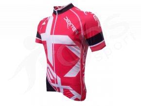 Cyklistický dres Dexter Mondrian červený