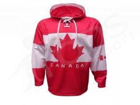 Mikina Canada červená vlastní potisk