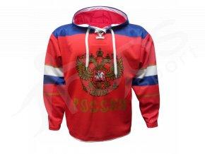 Mikina Rusko červená vlastní potisk