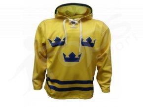 Mikina Švédsko žlutá vlastní potisk