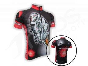 Cyklistický dres VESMÍRNÁ BLECHA dětský