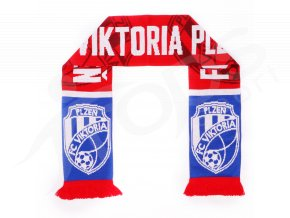 Fotbalová šála FC Viktoria Plzeň, modrý pruh