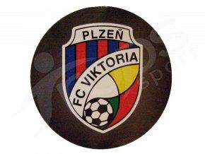 Samolepka FC Viktoria Plzeň,  logo, kulatá