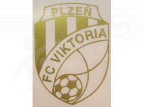 Samolepka FC Viktoria Plzeň, zlaté logo