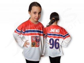Dětský český hokejový dres TOP - venkovní
