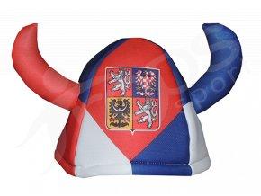 Klobouk viking ČR červený