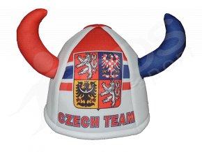 Klobouk viking ČR bílý