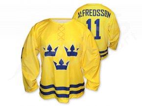 Hokejový dres Švédsko 2014/2015 TOP - žlutý