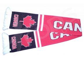 Hokejová šála Kanada, červeno černá