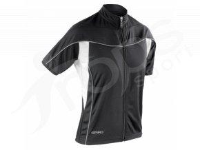 Dámský cyklistický dres Spiro BIKE FULL černý