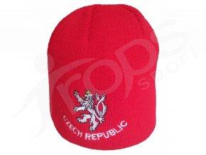 Zimní čepice CZECH REPUBLIC, červená