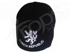 Zimní čepice CZECH REPUBLIC, černá