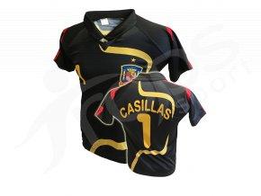 Fotbalový dres ŠPANĚLSKO Casillas - černý