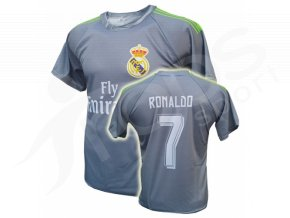 Fotbalový dres Real Madrid Cristiano Ronaldo šedý