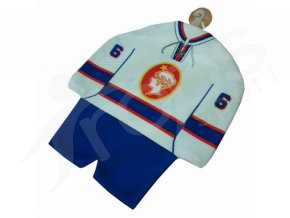 Hokejový mini dres Poldi Kladno bílý