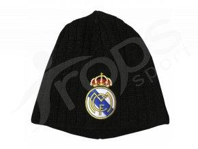 Zimní čepice Real Madrid, černá