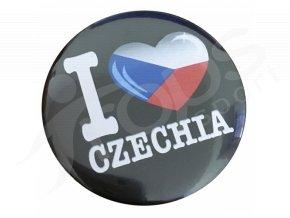 Placka Czechia, černá