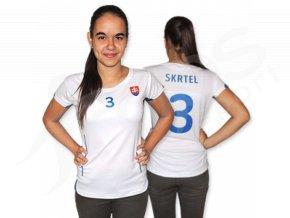 Dámský fotbalový dres Slovensko 2015, bílý