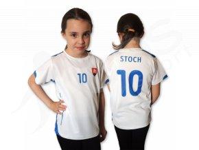 Dětský fotbalový dres Slovensko 2015, bílý