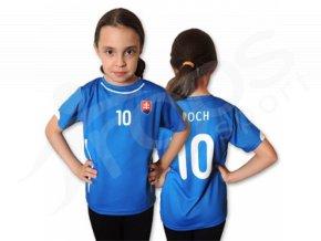 Dětský fotbalový dres Slovensko 2015, modrý