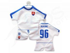 Fotbalový mini dres Slovensko 2016, bílý