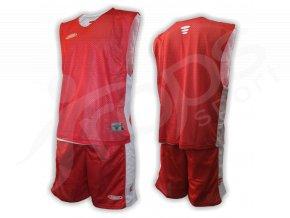 Basketbalový komplet oboustranný červený