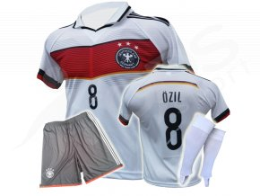 fotbalovy komplet nemecko ozil bily trenky stulpny