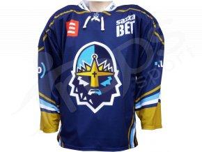 hokejovy dres rytiri kladno original vlastni jmeno a cislo modry