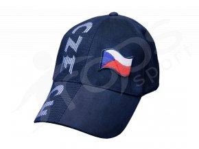 Kšiltovka ČESKÁ REPUBLIKA modrá
