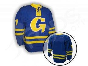 Hokejový dres RETRO GOTTWALDOV - modrý