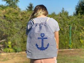 Námořnický vak Kotva modrý