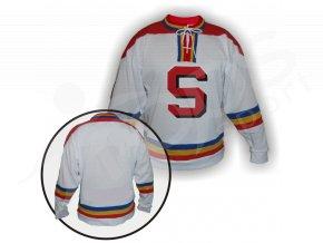 Hokejový dres RETRO SPARTA PRAHA bílý