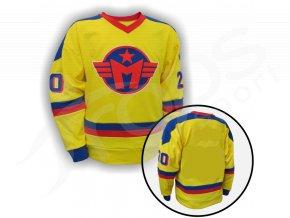 Hokejový dres RETRO MOTOR ČESKÉ BUDĚJOVICE žlutý