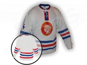 Hokejový dres retro Poldi Kladno bílý