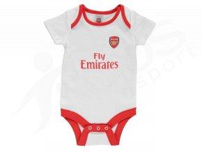 Dětské body Arsenal bílé