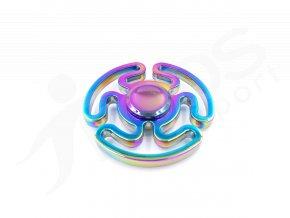 Kovový Fidget Spinner Labyrint Rainbow