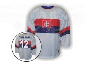 Hokejový dres RETRO SLOVENSKO - bílý