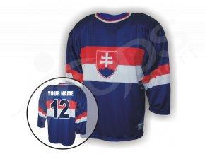 Hokejový dres RETRO SLOVENSKO - modrý